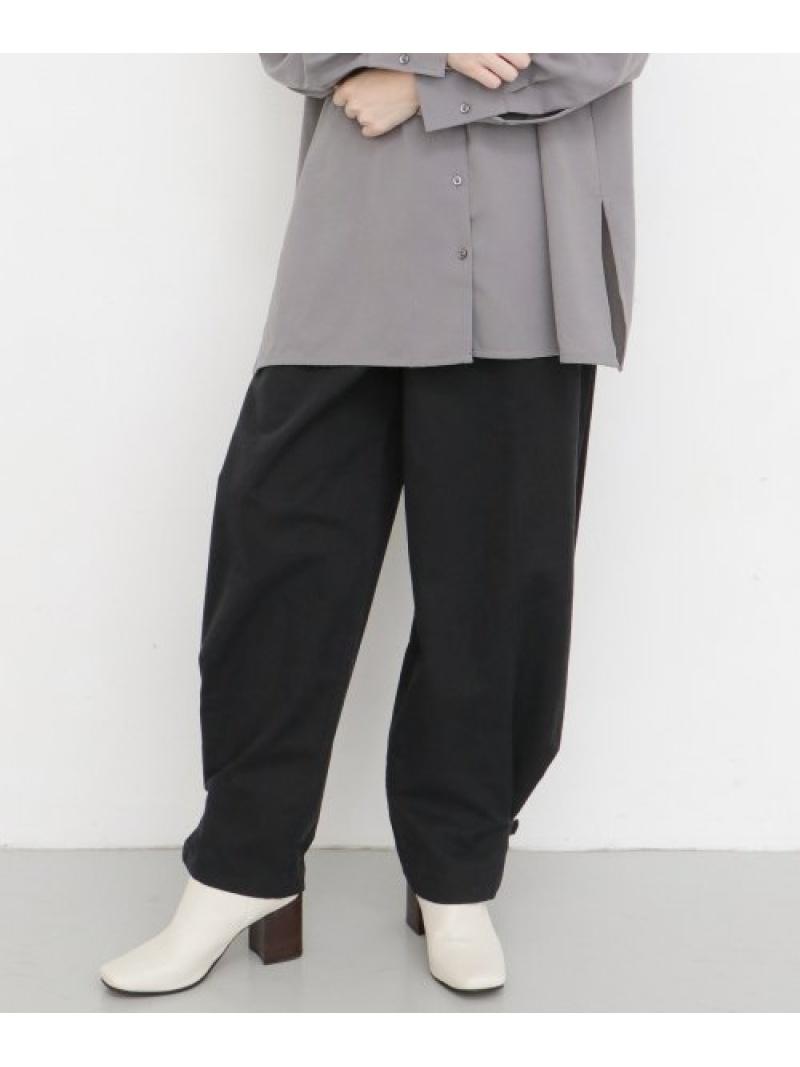 [Rakuten Fashion]ヘムベルトワイドパンツ KBF ケービーエフ パンツ/ジーンズ パンツその他 ブラック ベージュ ブラウン【送料無料】