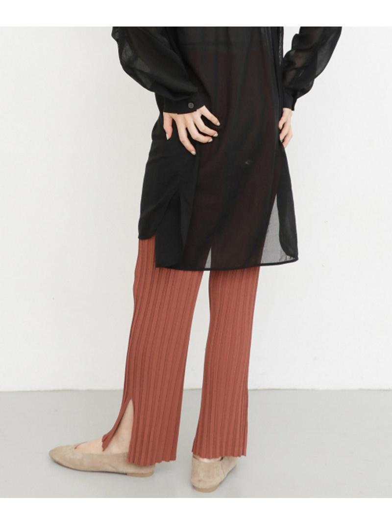 [Rakuten Fashion]ランダムリブニットパンツ KBF ケービーエフ パンツ/ジーンズ パンツその他 ブラウン ベージュ ブラック【送料無料】