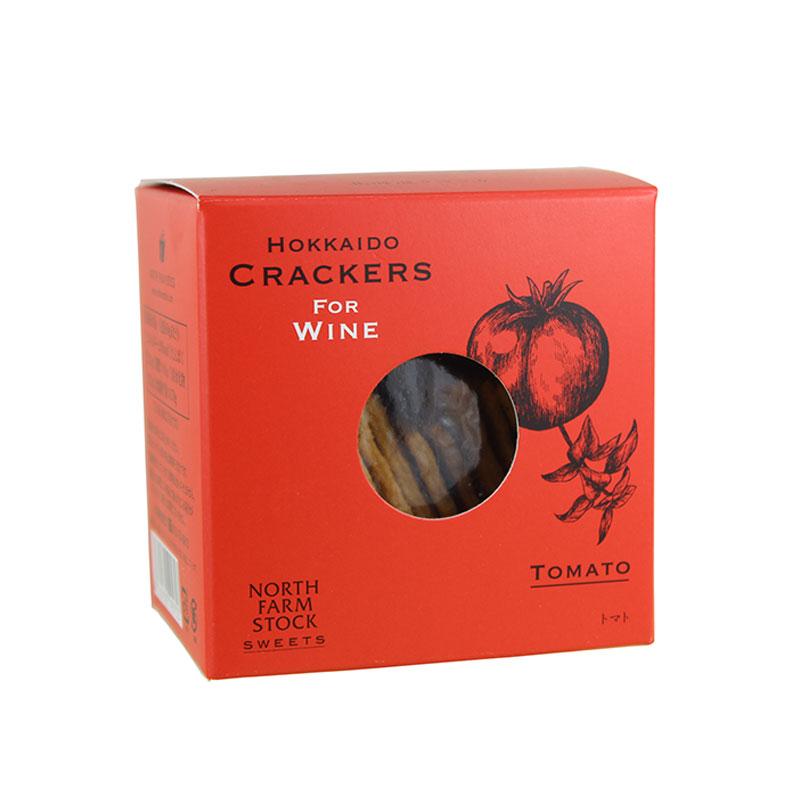 ワインを楽しむために作られたクラッカー 北海道クラッカー トマト 通常便なら送料無料 ギフトBOX不可 ラッピング不可 ワインとの同梱可能 商舗