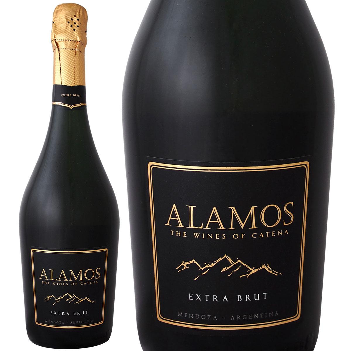 パーカー5つ星生産者が作り出す極上スパーク スパークリングワイン 白 カテナ 未使用 アラモス エキストラ ブリュット パーカー5つ星生産者が作り出す極上スパークが1 750ml 辛口 白スパークリングワイン アルゼンチン 700円 当店限定販売