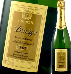 このお値段で シャンパーニュ伝統の トラディショナル製法 スパークリング ヴァン ムスー ブルエット 春の新作 プレステージ フランス 男女兼用 ド ブリュット 辛口 ブラン 白スパークリングワイン 750ml