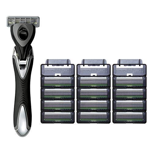 フェザー安全剃刀 エフシステム 市場 サムライエッジ ホルダー セット 替刃付 付与 1本+13枚