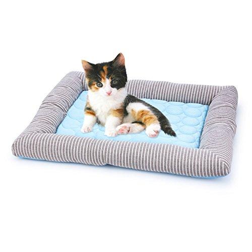 Dopet 即納 ペットベッド ペットマット 夏用 限定特価 ひんやりマット 犬用ベッド ペット用 マット 柔らかい アイスシルク生地 涼しい 猫用ベッド