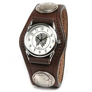 Watch mens leather leather KC, s ケイシイズ: resabreswatch 3 Concho