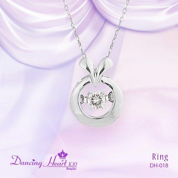 【送料無料(沖縄・離島を除く)】0471301-00018 DH-018 クロスフォー ダンシングハート  Dancing Heart K10 Ring DH018【お取り寄せ品】【天然ダイヤモンド】