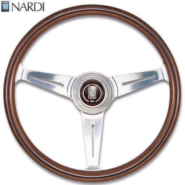 NARDI ナルディ N100 ウッド&ポリッシュスポーク ステアリング 径330mm NARDIホーンボタン ホーリング付【お取り寄せ商品】【ハンドル ステアリング】