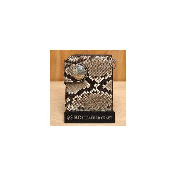 【送料無料(沖縄・離島を除く)】KC s ケーシーズ  KPB508 ビルフォード ラレド パイソン KPB-508【お取り寄せ商品】【ケイシイズ/LEATHER CRAFT/二つ折り財布】