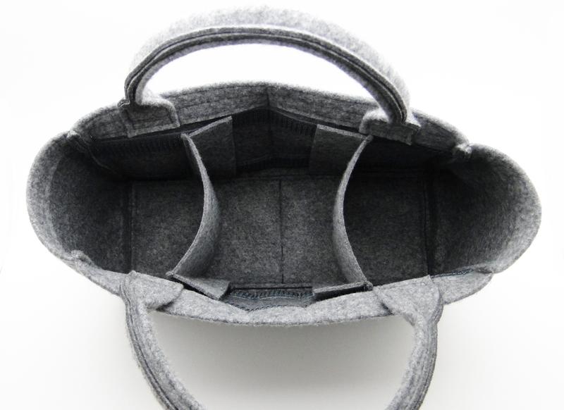 バッグインバッグ レディース 8色展開 フェルト素材 汎用Lサイズ・ハンドルタイプ インナーバッグ 整理 小さめ 大きめ a4bgYfvyI76