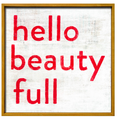 インテリア デザイン おしゃれ 絵 アート 壁掛け(即納)Suberboo Design/シュガーブー・インテリア デザイン リトルアートプリント(Hello Beauty Full)