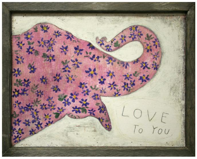 インテリア デザイン おしゃれ 絵 アート 壁掛け(即納)Suberboo Design/シュガーブー・インテリア デザイン アートプリント(Pink Elephant)