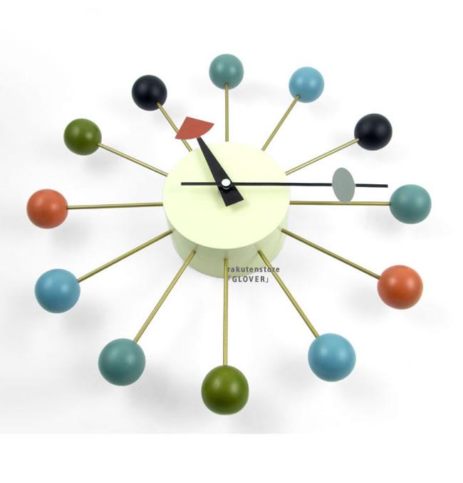 ジョージネルソン ボールクロック マルチカラー 時計 掛け時計GN397C 正規品