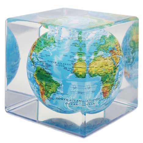 MOVA Cube グローブ 12.7cm Blue with Relief MC5RBE ほんまでっかTV 明石家さんま ベストバイ ホンマでっかTV 回転