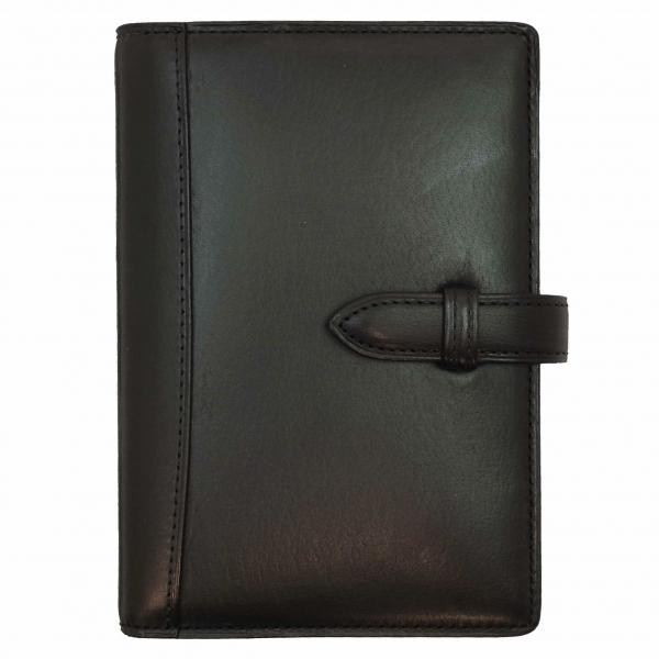 【Knox/ノックス】ミニ6穴サイズ ピアス リング径13mm 本革製 システム手帳バインダー【ブラック】 125-010-20 【あす楽対応】
