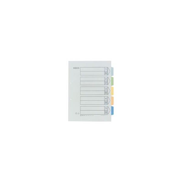 【送料無料】カラーインデックス5色5山(2穴) 907-100