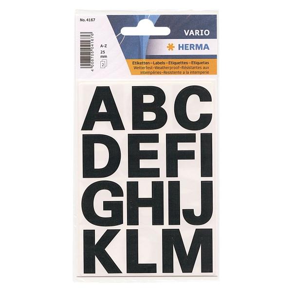 文字シール HERMA/ヘルマ  ラベル #4167(防水シール)【アルファベット】 304167【あす楽対応】