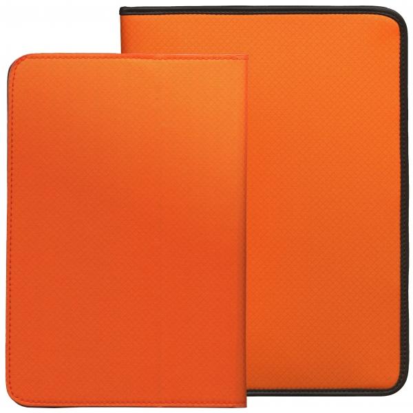 【送料無料】A5サイズ 6穴 180&タブレットケース・セット コーデュラ・ナイロン【オレンジ】 61804【あす楽対応】