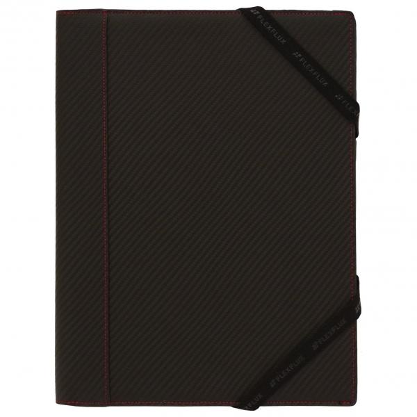 【FLEXFLUX/フレックスフラックス】カーボン柄レザー ノートカバー(本革製レポートパッドホルダー)【ブラック】A4・B5・A5サイズ対応 62574 【あす楽対応】