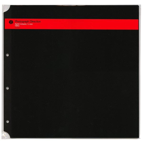 アルバムリフィル 公式通販 DELFONICS デルフォニックス アルバム粘着台紙 L ブラック 500178-105 倉庫 あす楽対応