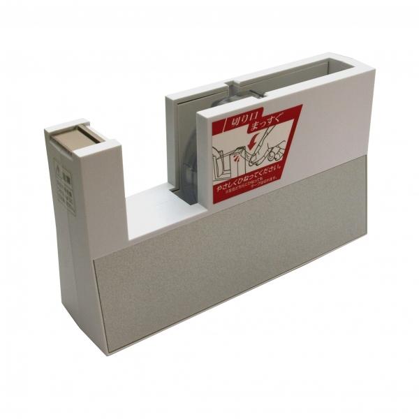 テープディスペンサー ニチバン  テープカッター大巻用 直線美【白】 TC-CB5