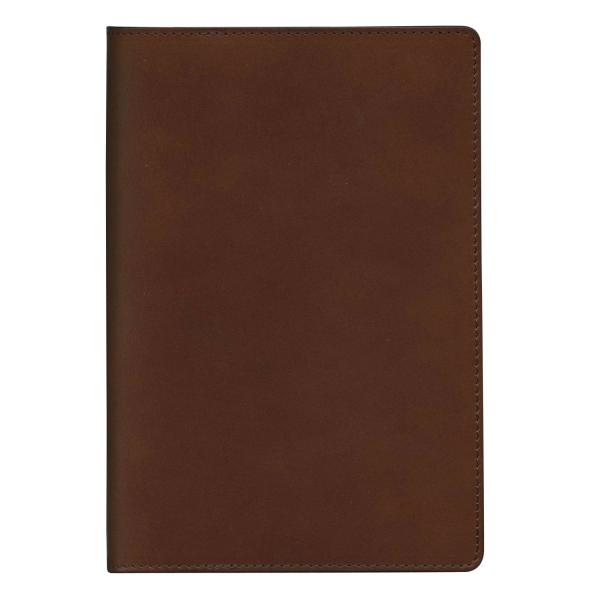 【送料無料】B6サイズ ノートカバー 本革製(牛革・オイルレザー)【ブラウン】 802550 17【あす楽対応】