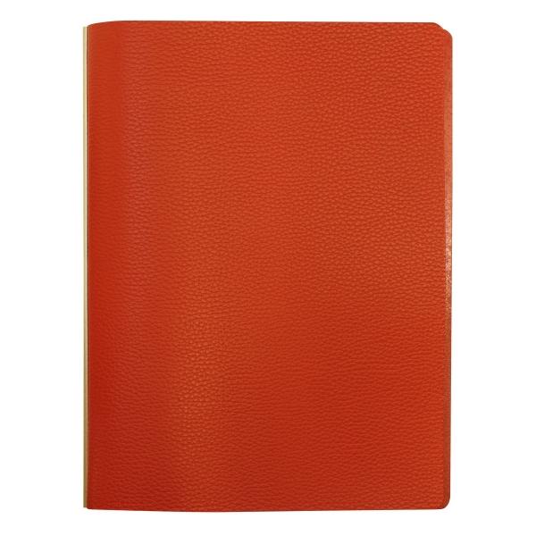 【送料無料】A5サイズ プロッター シュリンク リング径11mm【オレンジ】レザーバインダー/システム手帳 77716487【あす楽対応】