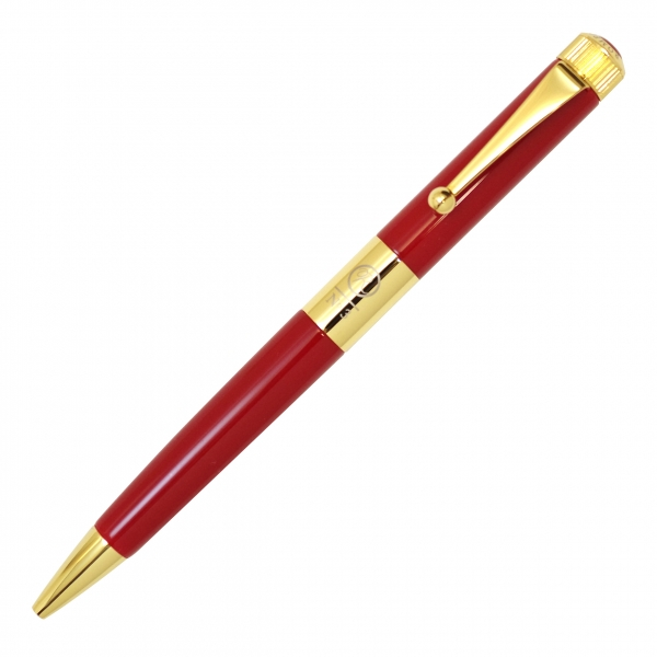 【送料無料】No.3 ロメオ ボールペン 細軸 ゴールドメッキ【レッド】 R-2302【あす楽対応】
