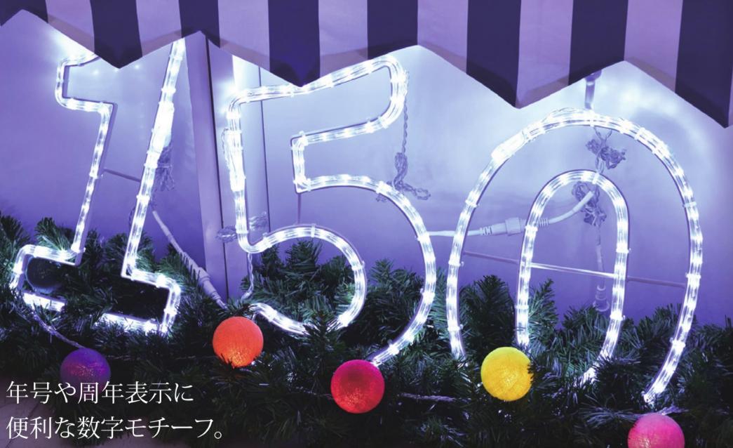 【ナンバーライト G096】クリスマス,イルミネーション,2Dフォルムライト,プロ仕様,サインディスプレイ,店舗用,業務用,飾り,フォトスポット,インスタ映え,おしゃれ,かわいい,イベント,電飾,防水,屋外,屋内,キラキラ,正月,記念,アニバーサリー,数字,年号,周年