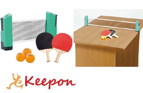 ●日本正規品● ネットを伸ばして どこでもお手軽に卓球ができる どこでも卓球セットスポーツ ネット 卓球 ラケット 保証 ボール