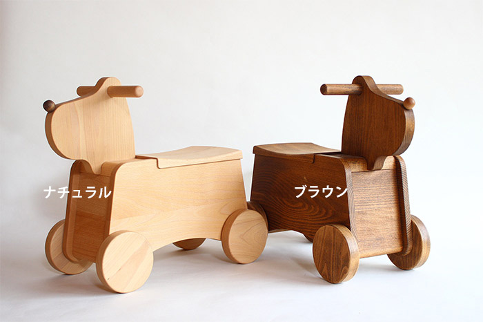 【5%OFFセール中】送料無料!乗って遊べる犬のおもちゃ箱!オークヴィレッジの森の玩具「Korobox(ナチュラル/ブラウン)」【Oak Village・オークビレッジ】 おもちゃ 乗用玩具・三輪車 乗用玩具 木馬・動物