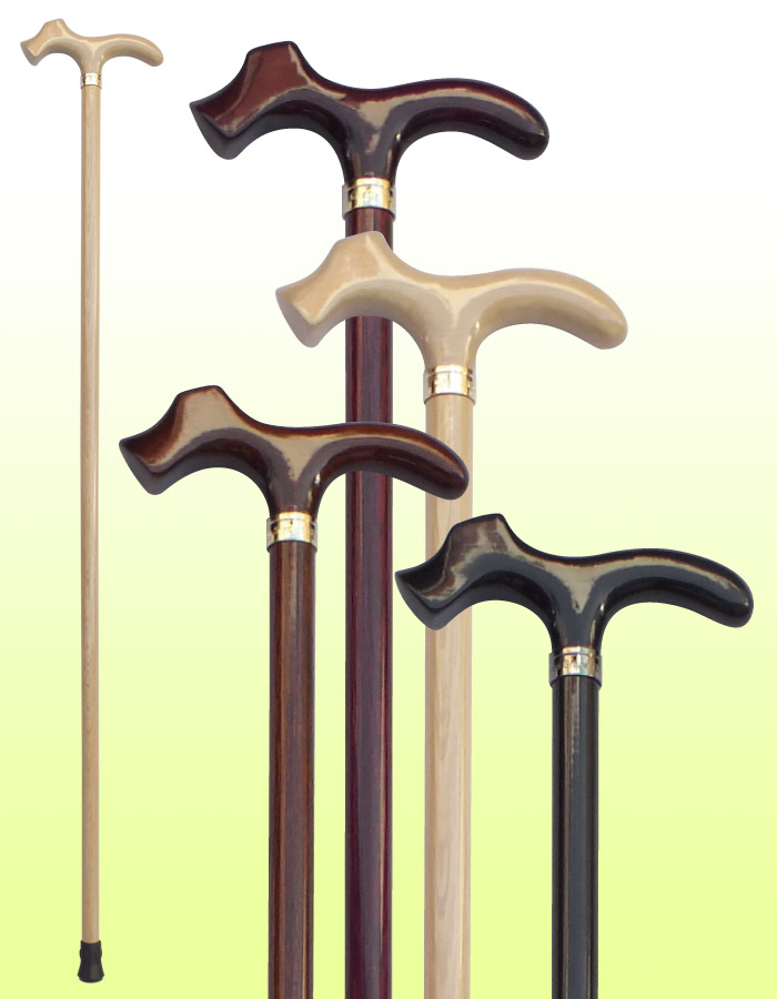 高級ステッキ 国産杖 オークT型犬手元ステッキ OT32 送料無料 福祉・介護 歩行関連用品 ステッキ・杖