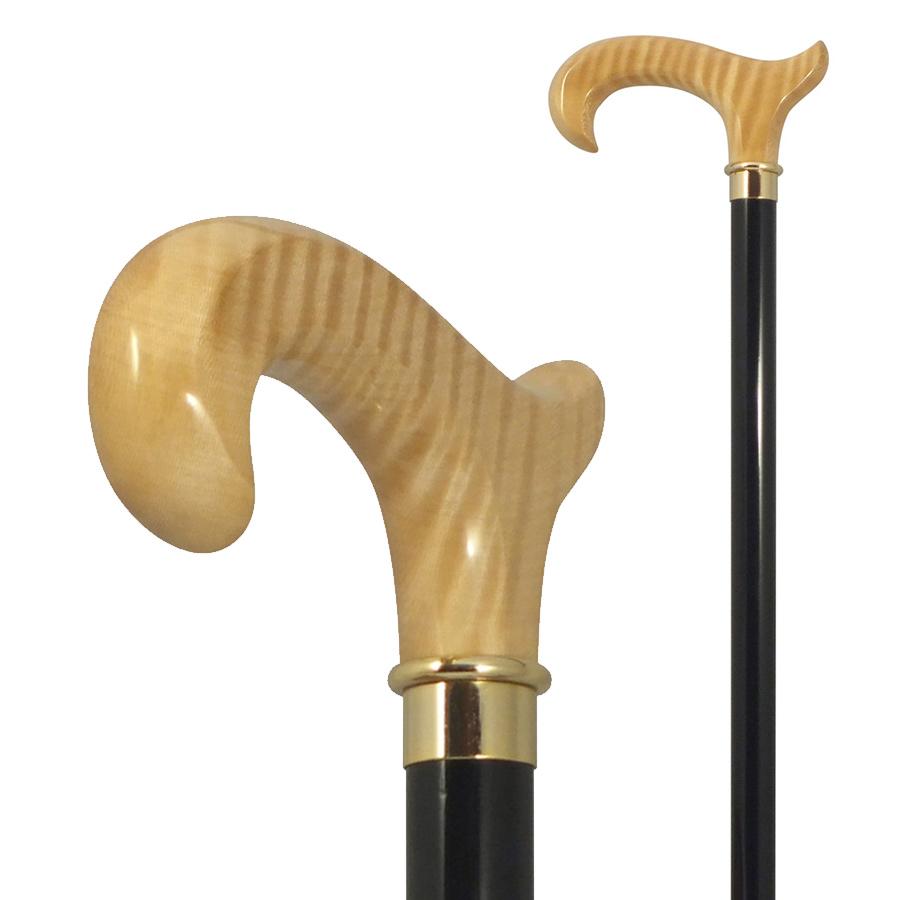 国産ステッキ 高級杖 トチ変形ハンドルステッキ No.142 送料無料 福祉・介護 歩行関連用品 ステッキ・杖