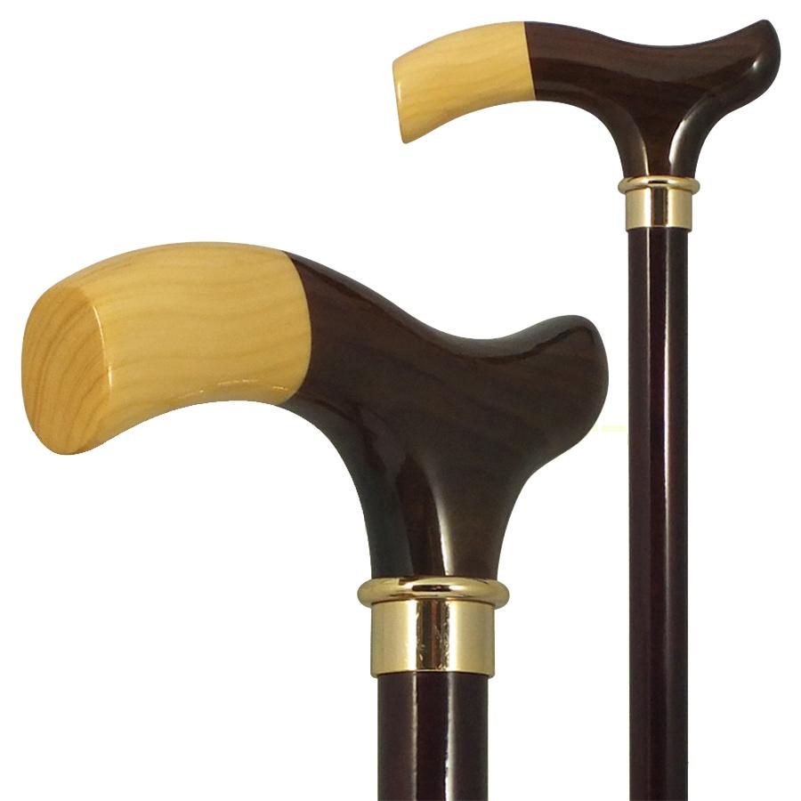 国産杖 高級ステッキ ツゲチップL型ハンドルステッキ No.165 送料無料 福祉・介護 歩行関連用品 ステッキ・杖