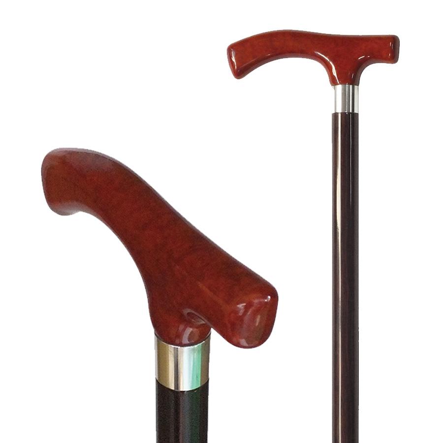 国産杖 高級木製 ステッキ 杖 ブライヤーハンドルステッキ No.37 送料無料 福祉・介護 歩行関連用品 ステッキ・杖