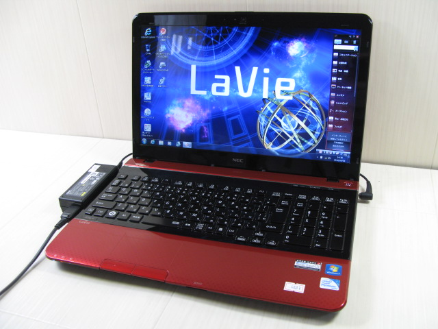 ★中古良品★レッド!NEC Lavie LS450/J Corei3 3110M 2GB~8G 320GB 640GB 1TB 大画面液晶 DVD作成 USB3.0 無線 Wi-Fi Windows7/Windows10(64bit)!