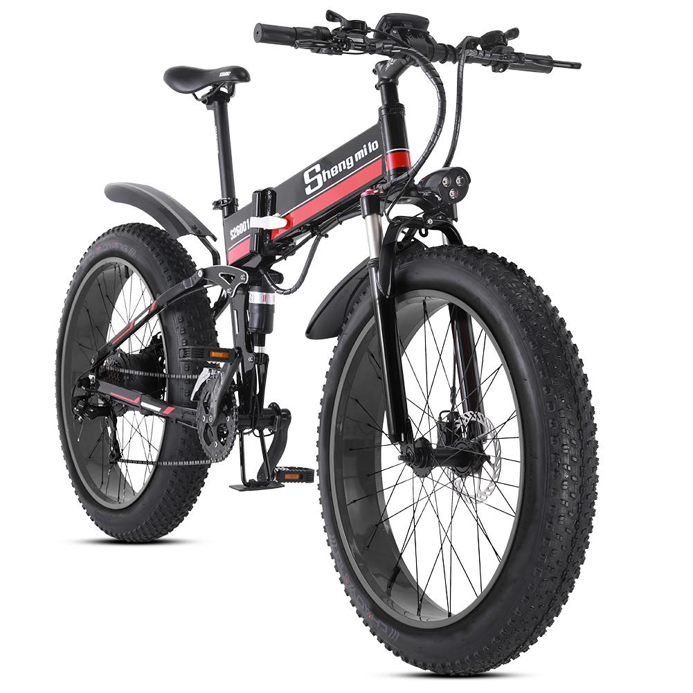電動アシスト自転車 おりたたみ でんどうじてんしゃ スーパーSALE対象 超おしゃれ FATBIKE ファットバイク 折りたたみ 流行のアイテム スノーバイク FATBIKE迫力の極太タイヤ マウンテンバイク1000W Mx01ファットバイク Shengmilo アルミフレーム アシスト自転車 35%OFF スノーホイール 数量限定高級版 48V12.8An大容量バッテリー