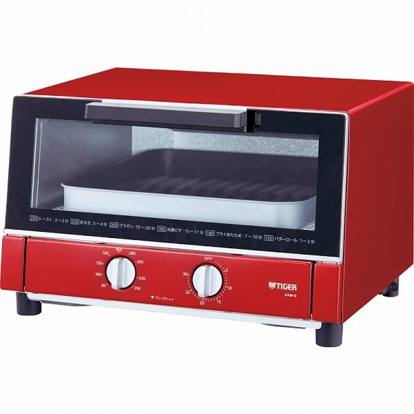 【景品 現物】タイガー やきたて オーブントースター レッド KAM-G130R