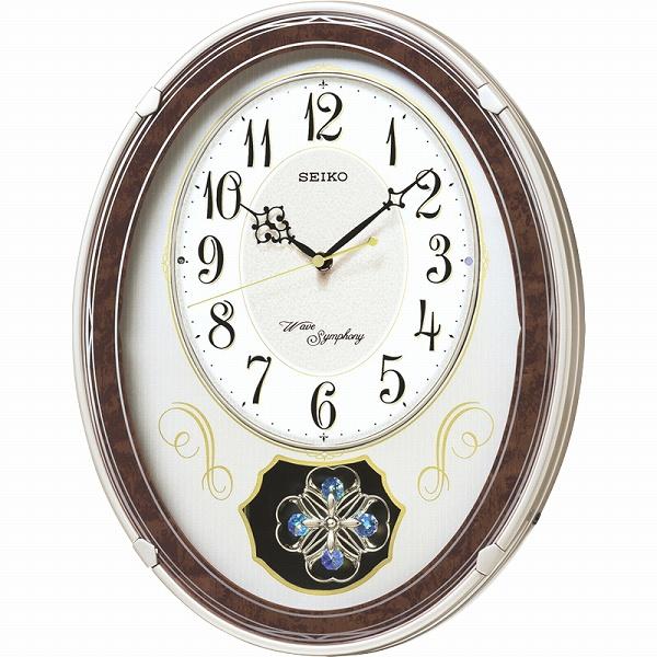 【景品 現物】セイコー ウェーブシンフォニー 電波正時メロディ掛時計 AM259B