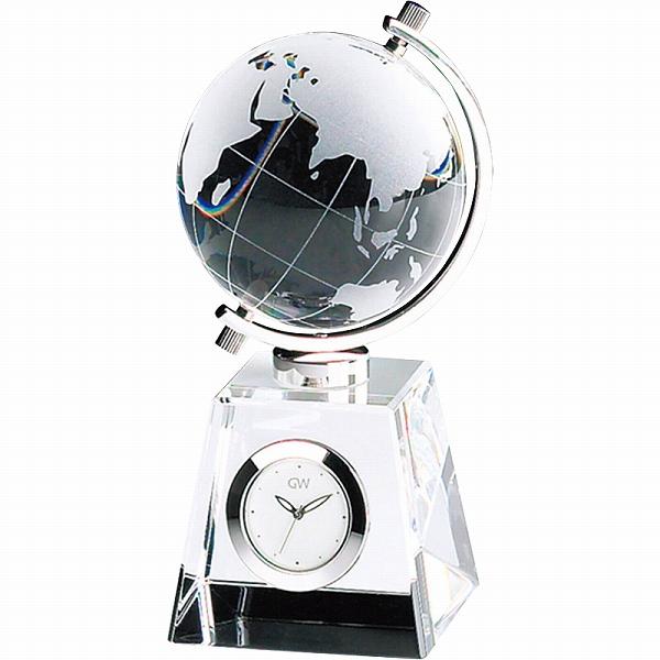 【景品 現物】グラスワークスナルミ グローブ クロック GW1000-11011