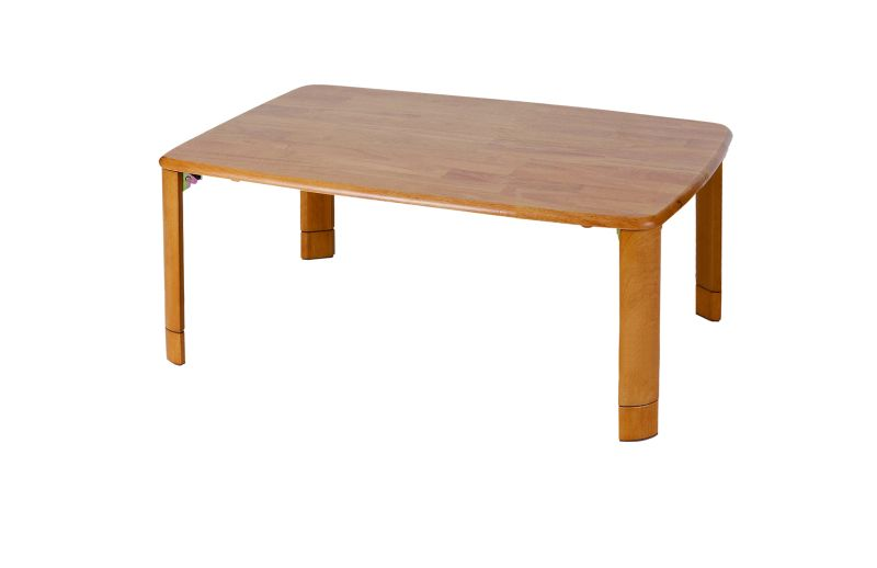 菊屋 K.K 木製折れ脚テーブル 10575 継脚付 V-5451