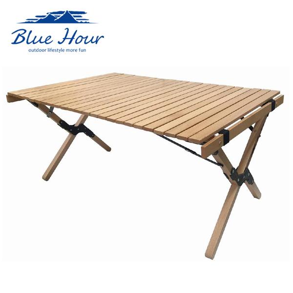 Blue Hour コンパクトウッドテーブル ロング K-10348 アウトドア 天然木 キャンプ レジャー 4582451300343 信頼 品質 ブランド K.K 菊屋 オリジナル