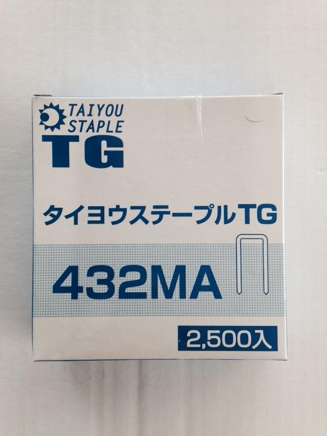 TGステープル432MA 2500本X12箱x2
