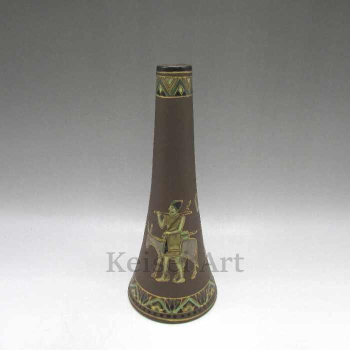 古代ギリシャ壁画風花瓶【 送料無料 】【 オールドノリタケ 】【 中古 】