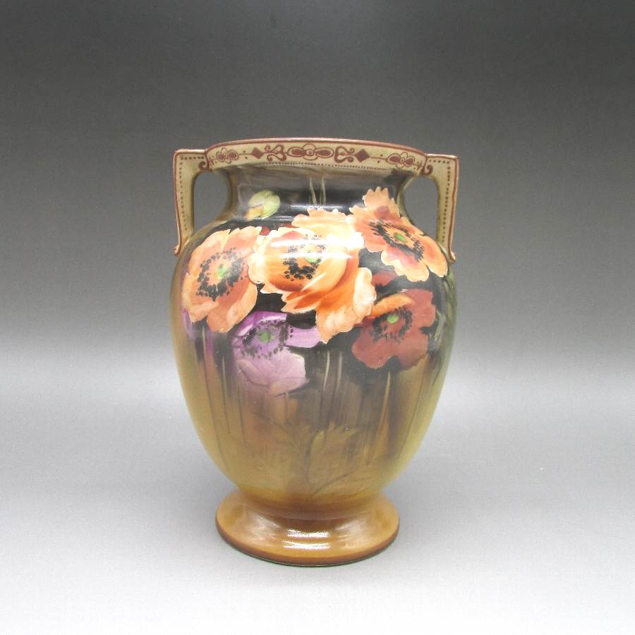 オールドノリタケ 芥子花文花瓶 中古 送料無料