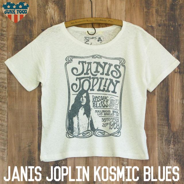 JUNK FOOD ジャンクフード Janis Joplin ジャニス ジョプリン レディース ショート丈TシャツbgyvYf76I