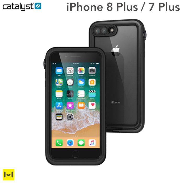 iphone7 plus iphone 8 plus ケース 防水 耐衝撃 catalyst カタリスト (ブラック) 【 スマホケース iphone7plus iphone8plus ケース 衝撃 防塵 iphone8プラス ハードケース iPhoneケース 】