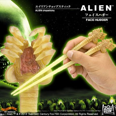 Do you eat in the cold Soba with your chopsticks it? In the film alien, Geron Gro figure chopsticks ★ announcing (facehugger)