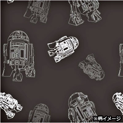Star Wars silknalooeti (R2-D2 × Komon / grey)