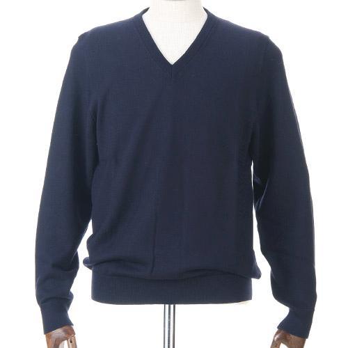 紳士 メンズ ウォッシャブルウール Vネックセーター 日本製 405-630