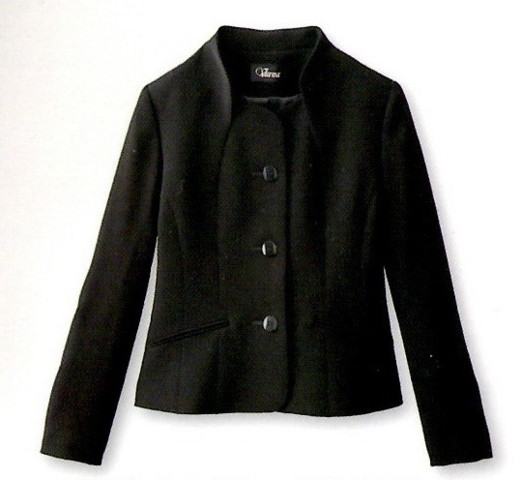 ブラックフォーマル スタンドカラージャケット ソフティナベーシック V3-67330