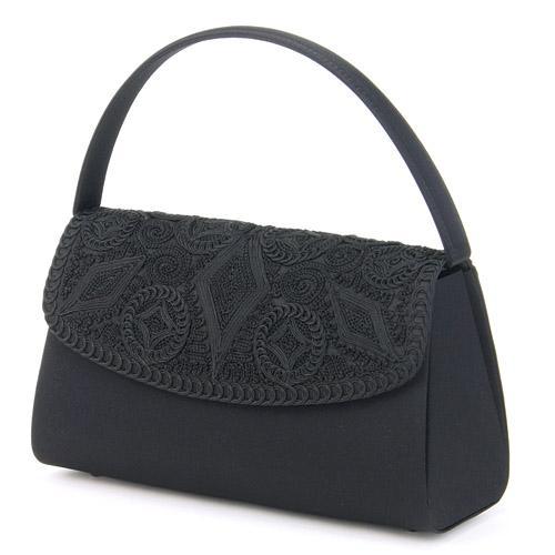 ブラックフォーマルバッグ コード刺繍バッグ 593-011